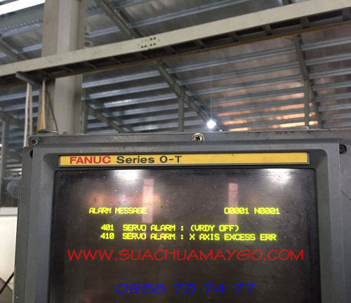 Lỗi 401 Máy CNC