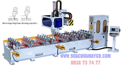 Sửa Chữa Máy Đánh Mộng Âm CNC 8 Đầu